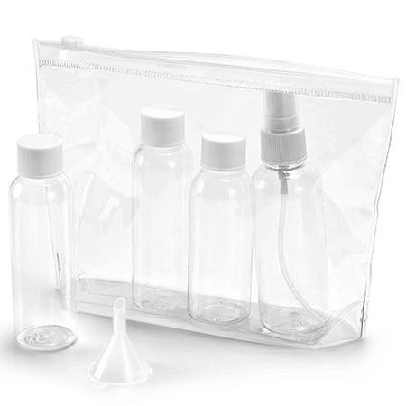 kit de frascos para viagem