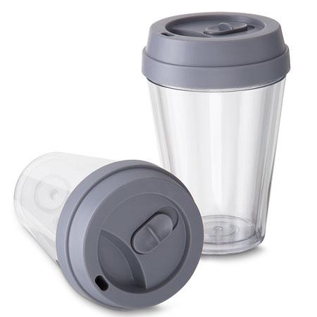 Copo Plástico com Tampa Personalizado