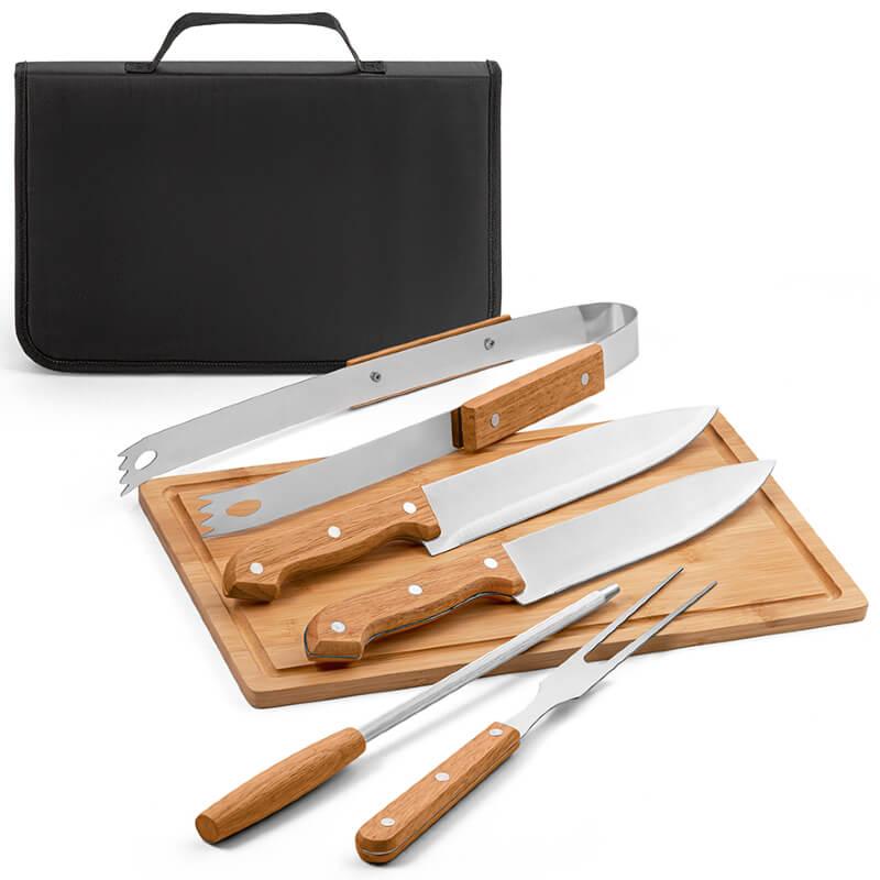 kit churrasco Completo com Maleta para Brindes