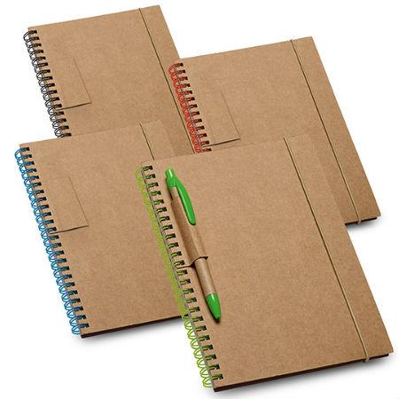 Caderno Espiral Personalizado com Caneta