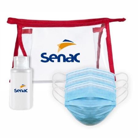Kit de Proteção com Álcool Gel e 3 Máscaras