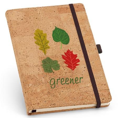 Caderno com Capa de Cortiça Personalizada