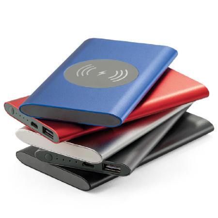 Power Bank Portátil para Brindes com Carregador Wireless