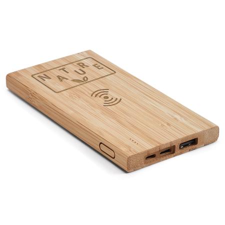 Bateria Portátil de Bambu com Wireless