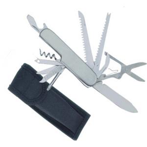 Canivete Personalizado em Aço Inox e Sete Funções