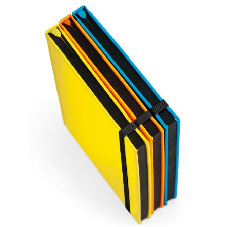 Caderno Personalizado Capa Dura Fluorescente