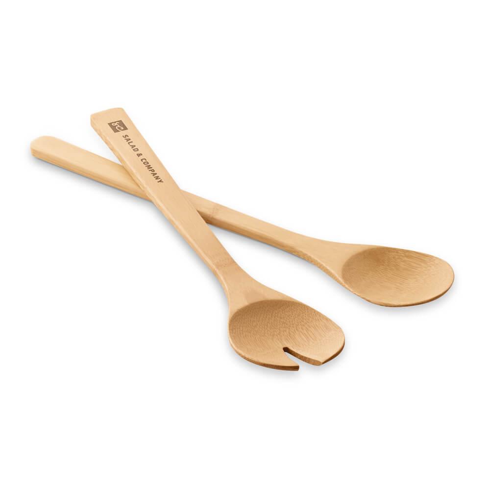 Jogo de Colheres de Bambu