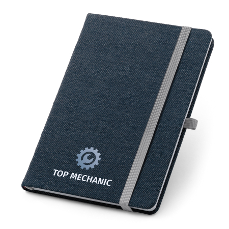 Caderno com Capa Jeans Personalizado