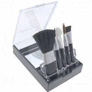 Conjunto de Maquiagem com Estojo em Acrílico e Cinco Peças