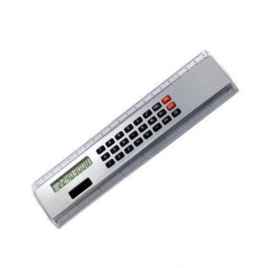Régua Promocional vinte centímetros com Calculadora