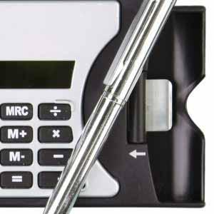 Porta Cartão e Calculadora