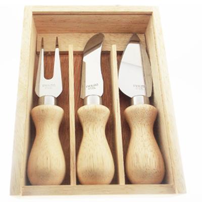Kit de Madeira para Queijo com Três peças
