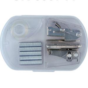 Kit para Escritório com grampeador, grampo, extrator e durex