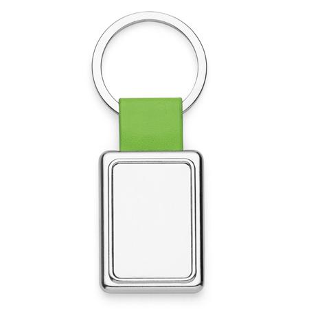 Chaveiro Retângulo de Metal com detalhe colorido