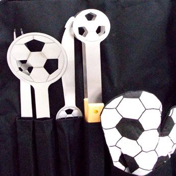 Kit Churrasco com Avental  Modelo Futebol