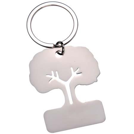 Chaveiro Personalizado de metal em formato de árvore.