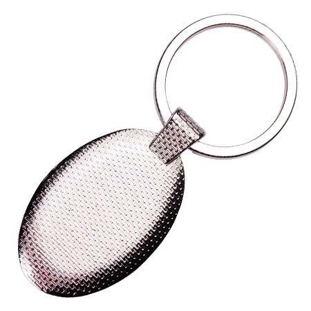 Chaveiro de Metal Oval Personalizado