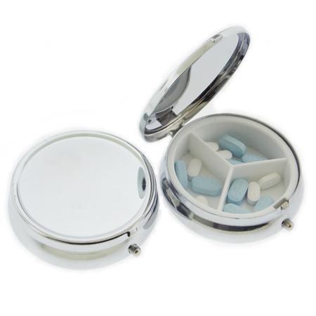 Porta Comprimidos Personalizado com Tres Compartimentos