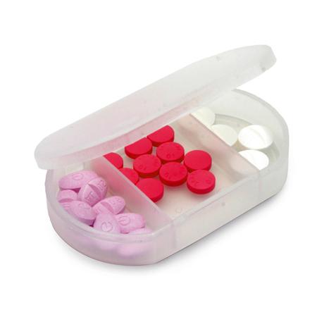 Porta Remédios Feminino com Tres Compartimentos