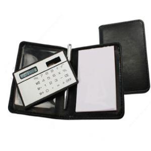 Kit Promocional com Calculadora, caneta e bloco de anotações