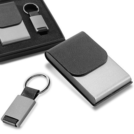 kit porta cartões e chaveiro personalizado