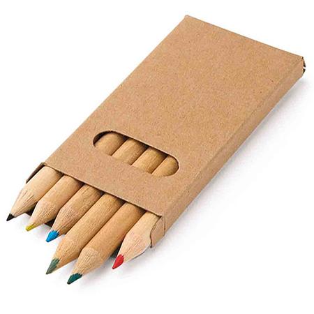 Caixa de Lápis de cor com 6 cores para Brindes